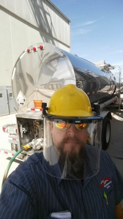 Liquid Trucking selfie Ed