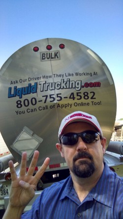 Liquid Trucking Driver Selfie