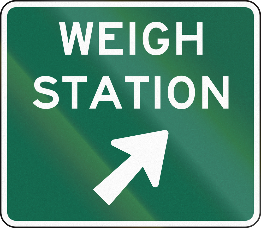 Weigh stations signs