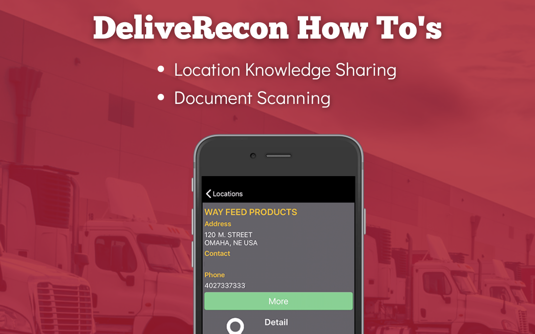 DeliveRecon: Location Knowledge Sharing and Document Scanning